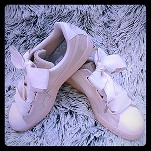 Puma Blush Suede Sneakers